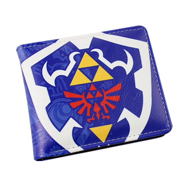 New Design Nintendo Game The Legend of Zelda Wallet Short/Long Wallets for Man Woman Teenagers Dollar Price 5 pcs lot cartoon anime wallet wholesale nintendo game pocket monster charizard pikachu wallet poke wallet pokemon go billetera
