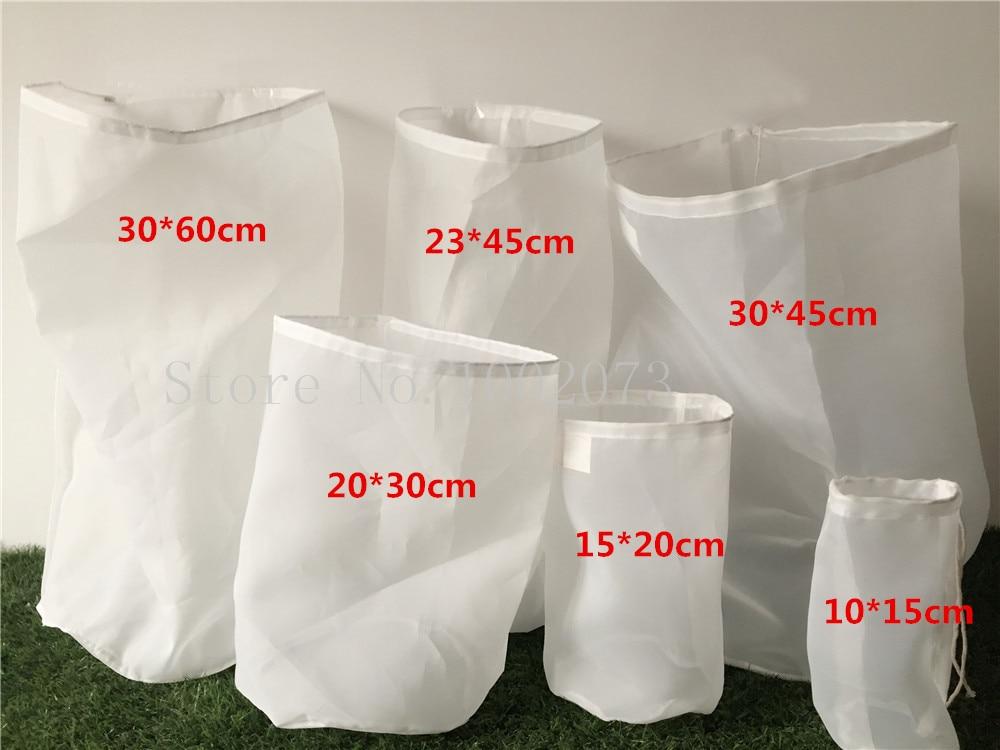 Food grade Tea Milk Coffee Juice Wine Mash Filter Bag Liquid Filter Bucket Homebrew beer Malt Filter Bag Colanders & Strainers  (11)