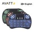 [Avatto] original i8 + retroiluminación retroiluminada 2.4g mini teclado inalámbrico con touchpad air mouse para smart tv, pc, ordenador portátil, caja de android