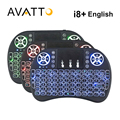 [Avatto] original i8 + retroiluminado 2.4g sem fio mini teclado com touchpad backlight air mouse para smart tv, pc, laptop, caixa android