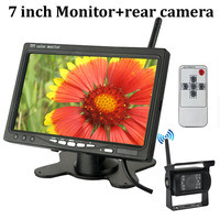 7 inch TFT LCD Wireless Car Rear View Monitor with IR Night Vision Rearview Camera Parking System for 24V Truck Coach Bus