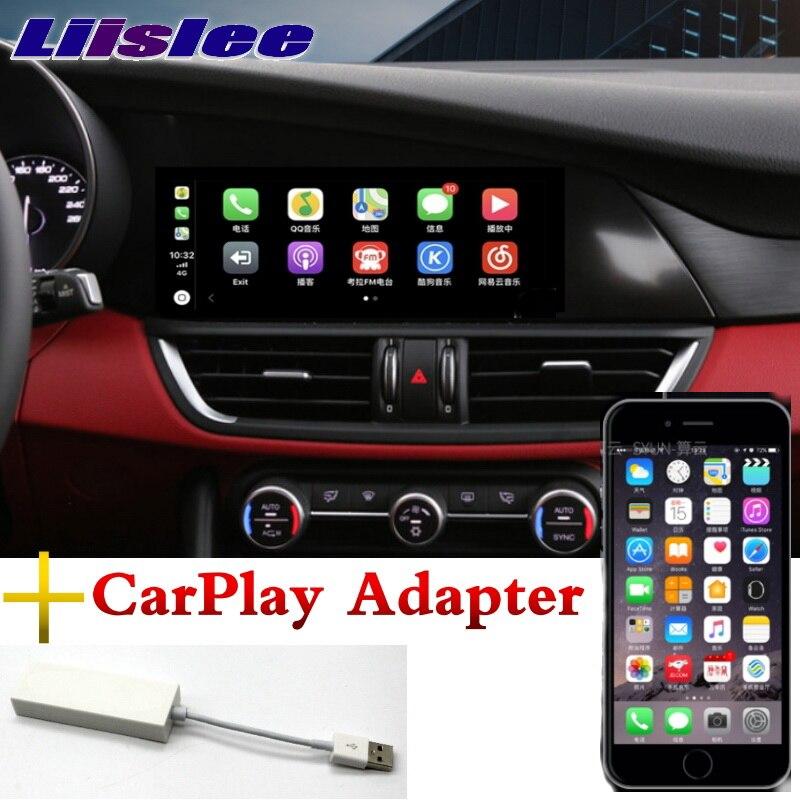 For Alfa Romeo Giulia 2017 2018 Liandlee Car Multimedia Accessories CarPlay 10.25inch GPS Radio Original System Navigation NAVI Mitsubishi Pajero