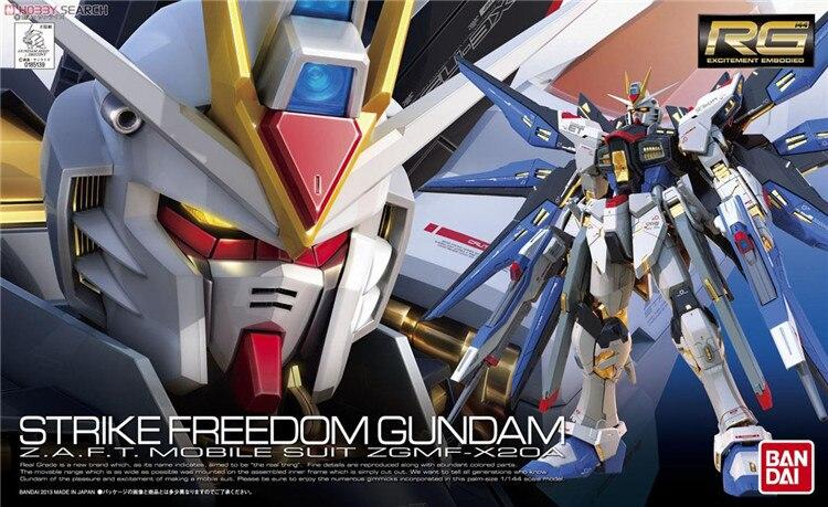 Bandai Gundam 1 144 RG Strike Freedom Mobile Suit Assemble Model Kits Action Figures Plastic Model