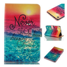 Flip PU Leather protective Case Flowers Stand Cover For Amazon Kindle Fire 7 2015 7 inch Fashion e-Book Tablet KF553C