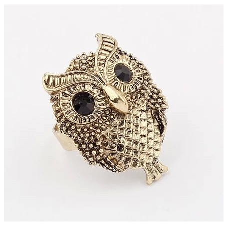 Personality owl ring vintage punk rings for women jewelry