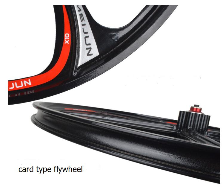 aro bicicleta montanha cartão volante