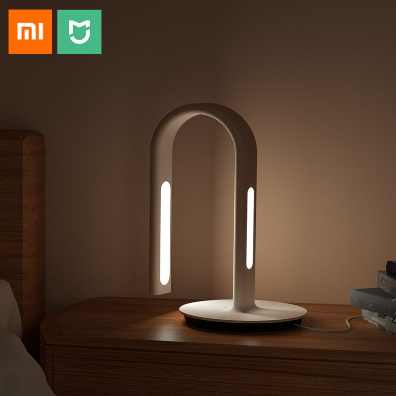 Original Xiaomi Mijia Smart Desk Lamp LED Light Philips2nd Folding Bordlampe Dual Light Touch Sensor Smart Home APP Control
