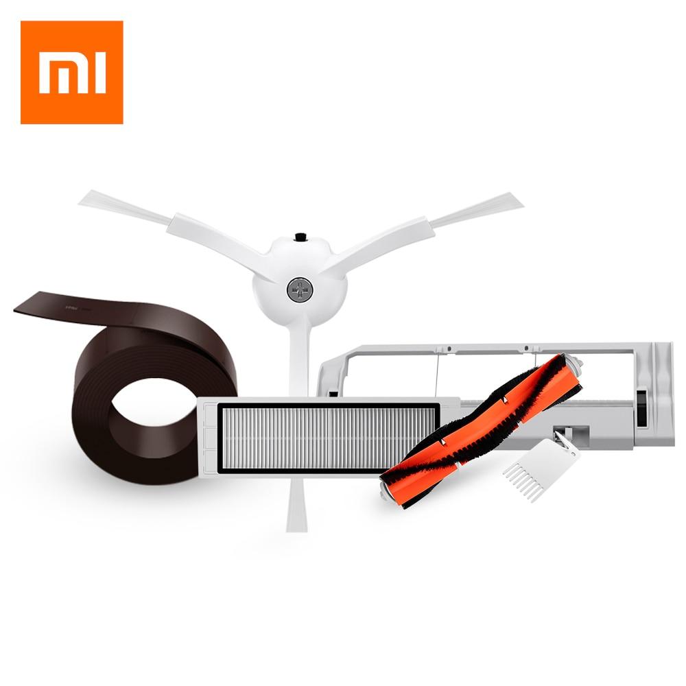 Оригинальный Xiaomi Mi робот-Smart Cleaner аксессуары Запчасти с невидимую стену боковые щетки фильтр прокатки кисти и крышка