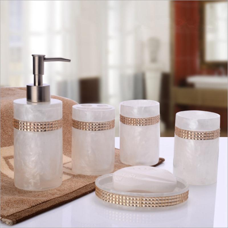 europeo piece set accessori per il bagno set disinfettante per le mani bottiglia nero