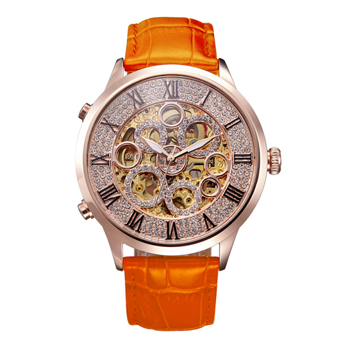 MATISSE Lady Full Crystal Dial Leather Strap Automatic Mechanical Watch Wristwatch matisse dance with joy