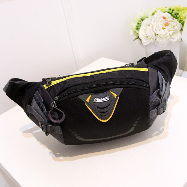 men and women's fashion large waist pack Waterproof nylon messenger bag Many zippers small  travel bag Riding in a chest