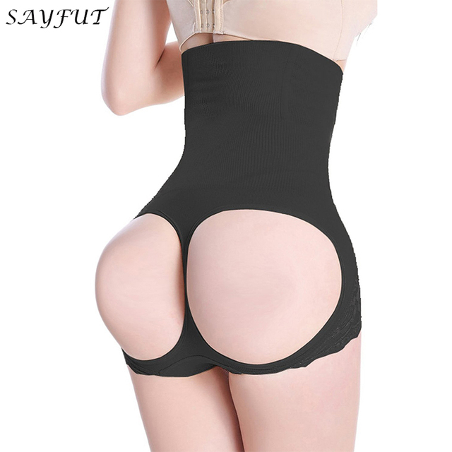 95ab1bec4a076 High Waist Butt Lifter Tummy Control Boy Shorts Trimmer Fat Burne Weight  Loss Slim Shaper Control