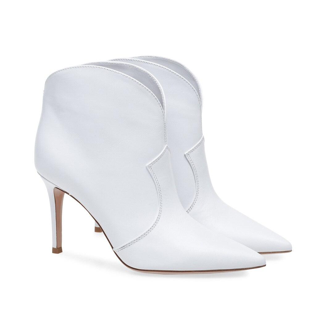 Talon Sexy Bottes Blanc Chelsea Taille Mariée Femmes Hiver Mince Sur Mariage Hauts Mode Slip Chaussures Automne 46 De Pointu Talons Bout Zzz1qw
