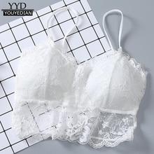 Women Sexy Vest Chest Padded Tank Tops For Women Wearing Fitness Underwear Lace bralette crop top Ladies *1223