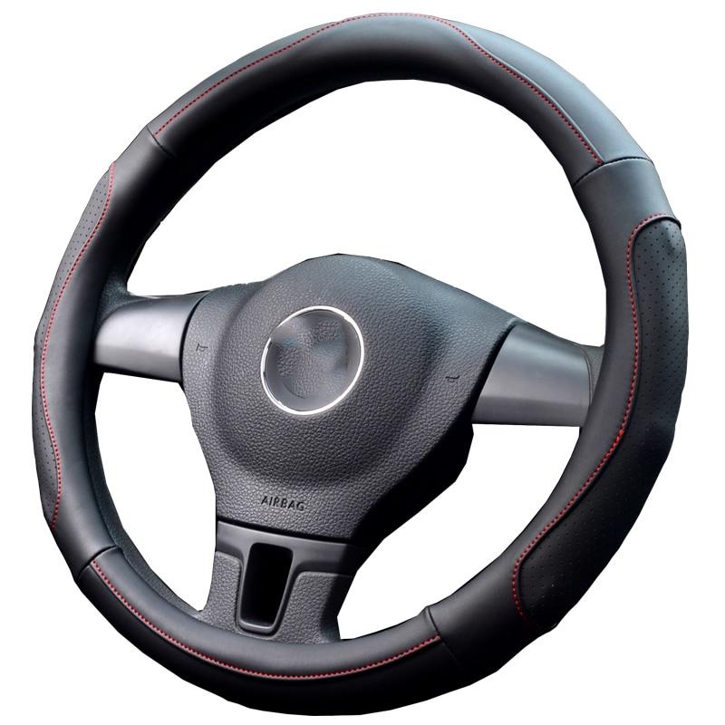 Steering wheel cover for a car ventilated holes breathe freely massage anti slip women men vehicle steering wheel case 38cm