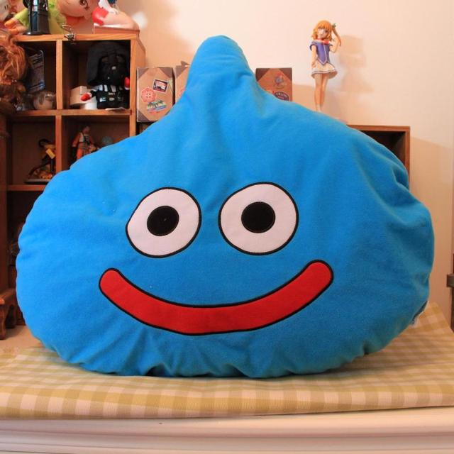 New Arrival Original Dragon Quest Slime Monster Soft Cushion Pillow Plush Toy Doll Birthday New Year Gift Limited Collection