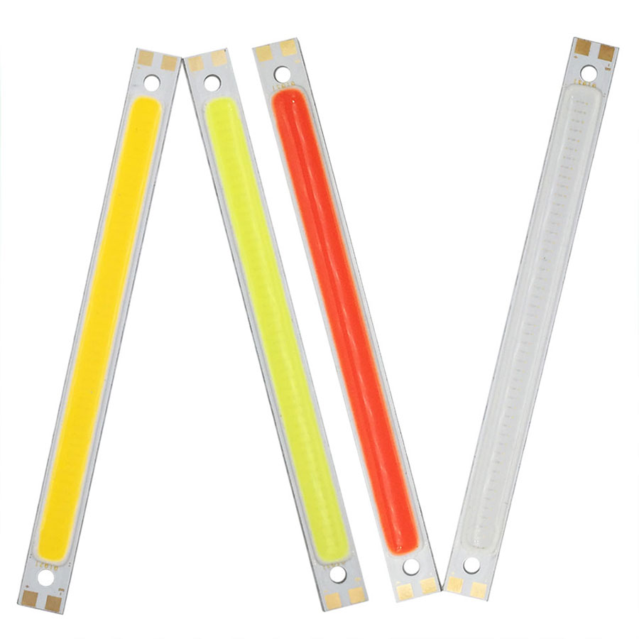 120mm Cob Led Strip Bar Lights Red Blue White 4.7in 10w 12v 1000lm Ultra Bright Bulb For Diy Car House Lighting Desk Wall Lamp Up-To-Date Styling