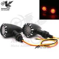 top quality metal CNC red motocross lens lighting motorbike blinker moto indicator flashing LED motorcycle turn signal light