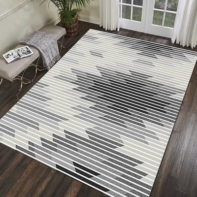 Salon table basse tapis peluche chambre complet chevet couverture rectangulaire simple moderne tapis haut de gamme épais corail polaire tapis - 2