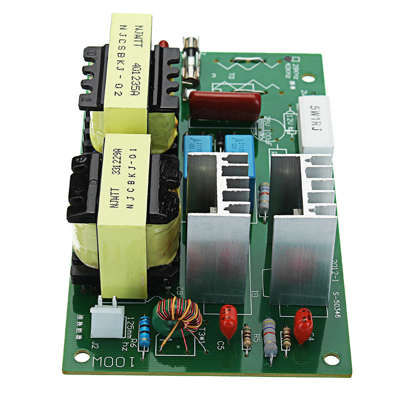 AC 220V 60W-100W Ultrasonic Cleaner Power Driver Frequency Tester Board With 2Pcs 50W 40KHZ TransducersAC 220V 60W-100W Ultrasonic Cleaner Power Driver Frequency Tester Board With 2Pcs 50W 40KHZ Transducers