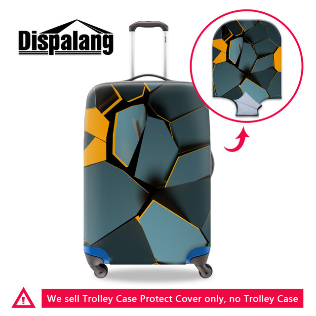 Durable 3D Splinter Print Fashion Travel Accessories For 18-30 Inch Suitcases  Travel Luggage Cover 93053a4012e50