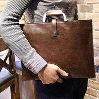 Phong cách châu Âu tài liệu tập tin người đàn ông cổ điển túi messenger thanh lịch túi của nam giới Cặp của văn Phòng Men túi xách crossbody HB00052