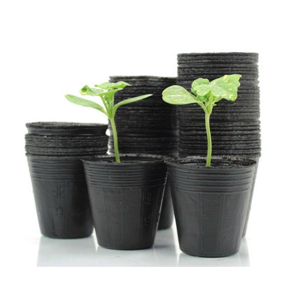100 Pcs Nursery Pots Seedling Raising Pan Feeding Block Nutrition Garden Supplies Free Shipping