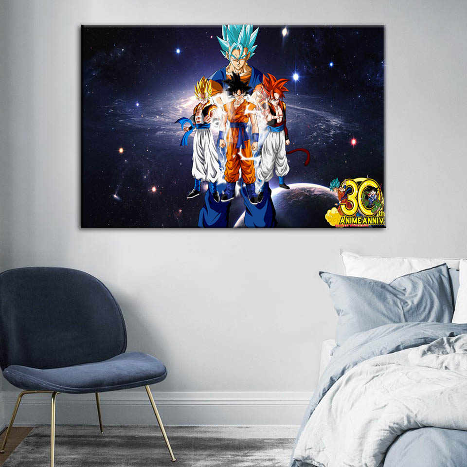Canvas HD Prints Painting Dragon Ball Wall Art Cartoon Character Poster Modern Home Decoration Modular Pictures For Living Room