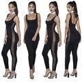Nova moda das Mulheres Treino de Fitness Leggings Calças Macacão Macacão Bodysuit