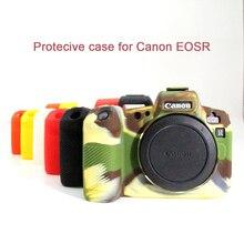 غطاء من السيليكون لكانون EOSR الجسم غطاء حامي لينة سيليكون المطاط كاميرا واقية الجسم حالة الجلد لكانون EOS R
