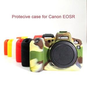 Image 1 - Funda de silicona para Canon EOSR cuerpo Protector de la cubierta de silicona suave cuerpo Protector de goma de cámara caso piel para Canon EOS R