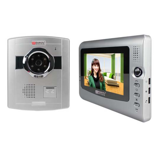 2016 New style 7 Inch  wired video door phone/doorphone , Safe home security intercom system