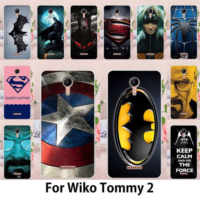 TAOYUNXI Supermen Printing Phone Case For Wiko Tommy 2 Cases Tommy2 5.0 inch Flexible Silicone Soft TPU Back Covers Housings