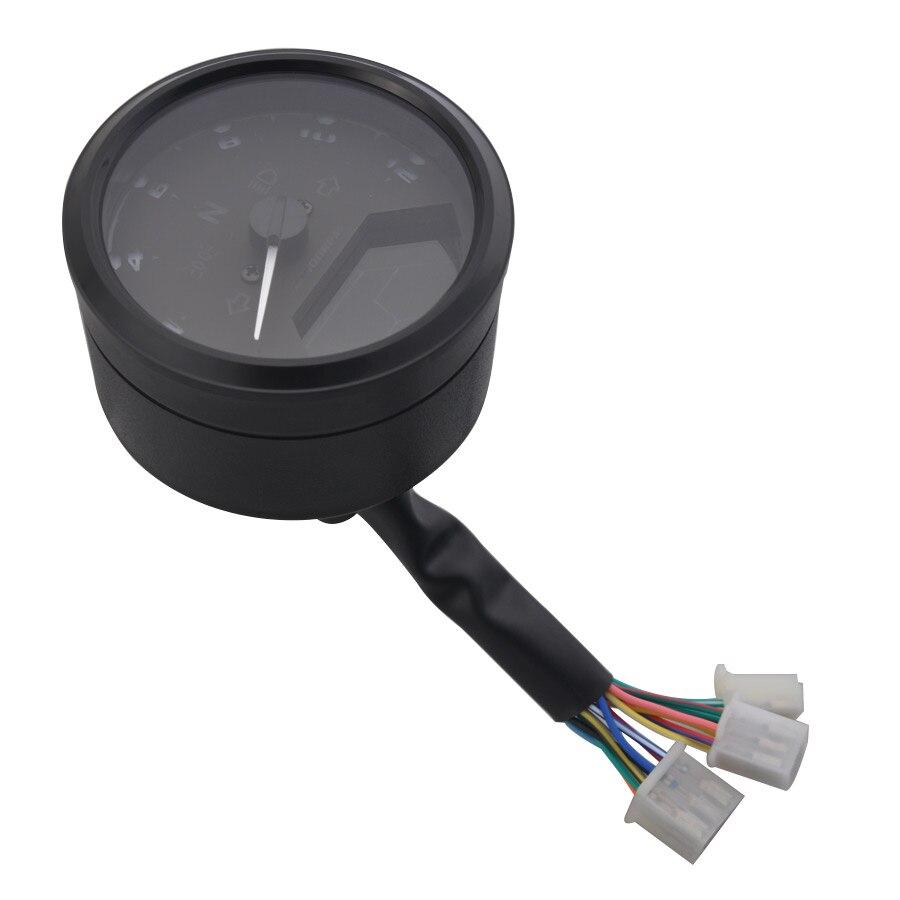 Odômetro digital lcd para motocicleta, 8-18v, tacômetro,