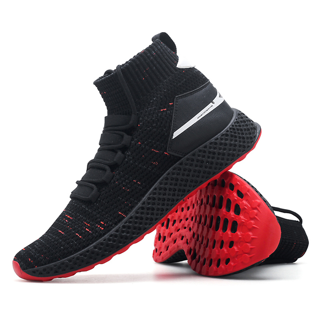 New High Top Running Shoes Trainers Breathable Black Chunky Socks Sneakers  Man Flat Platform Heels Gym Shark Shoes Basket Homme 404b7a0a437a