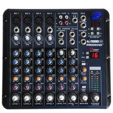 SMR8 8 Canales Freeboss (4 Mono + 2 Estéreo) 16 Equipo de la Consola de Sonido DSP USB Audio Profesional Mezclador de DJ