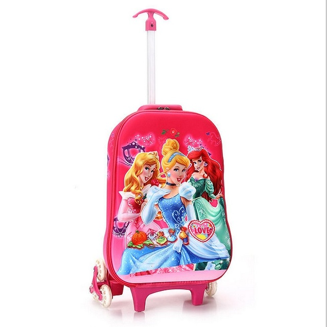 3D stereo trolley case Cute kids Travel rolling suitcase boy girl cartoon 16inch Luggage Pull rod box children gift Boarding box