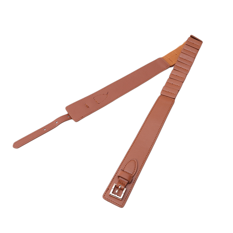 PU Elastic Waist Bandwidth Loose Multicolor Jacket Decoration Belts Ladies Simple Design Dress Skirt Belt high-end Gifts