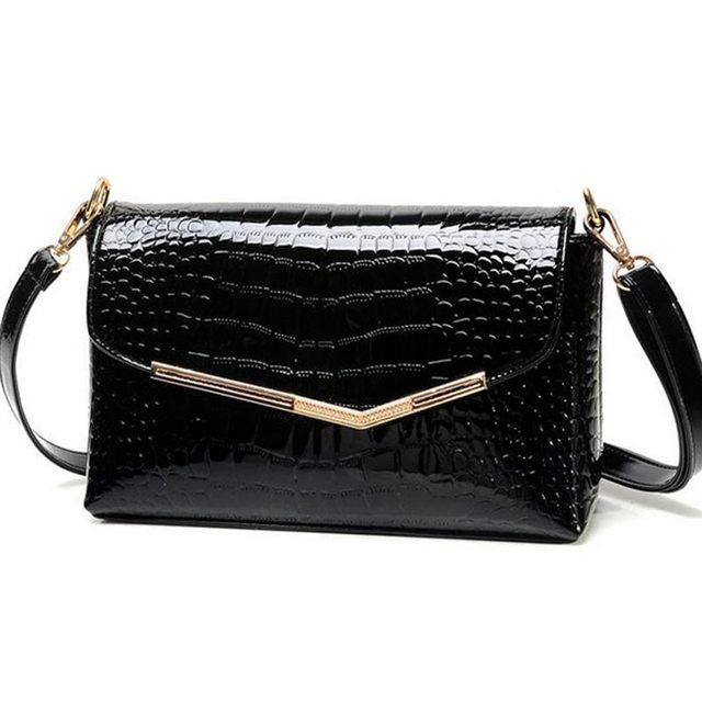 Marca mulheres mensageiro sacos de couro de crocodilo padrão de bolsa feminina pequena bolsa de ombro sacos de embreagem envelope QT-310