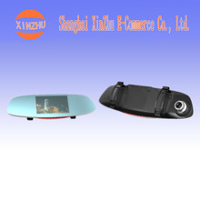 Double lens 5 inch reversing image 170 degree wide angle HD 12 million pixels driving recorder