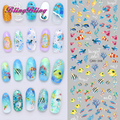 DIY Nail Art Design Water Transfer Nails Sticker Colorful Abstract Painting Fishes Nail Wraps Collection Fingernails Decals