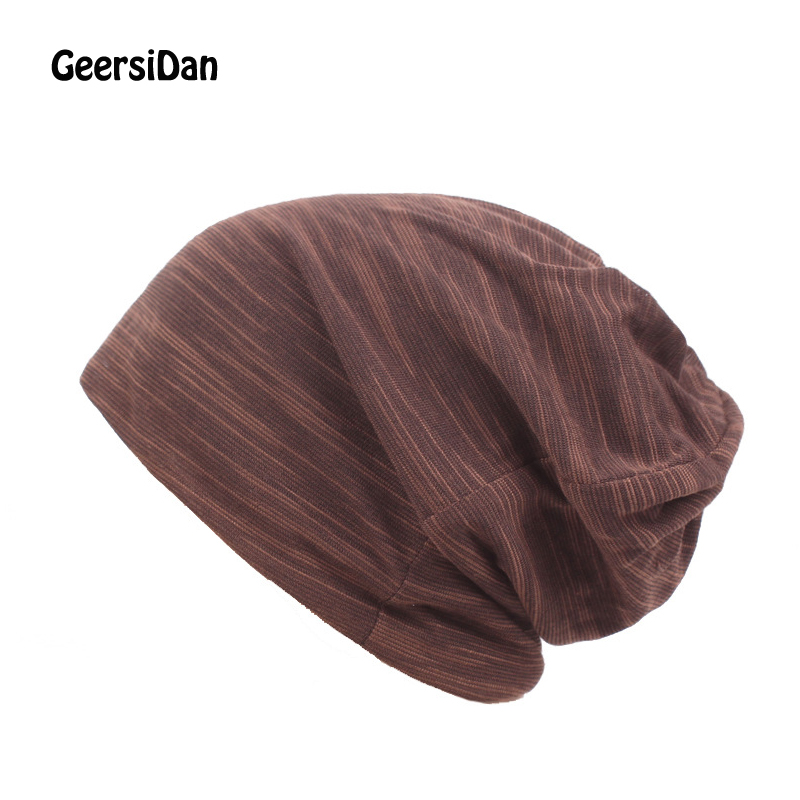 GEERSIDAN Autumn winter Unisex Men Women   Skullies     Beanies   Hedging Cap Knit Knitting Cotton Double Layer Fabric Caps Bonnet Hat