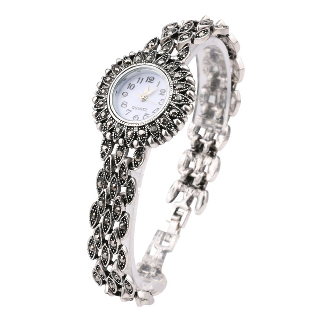 Fashion Silver Quartz Wristwatch Women's Bracelet Watches Top Brand Luxury Lady