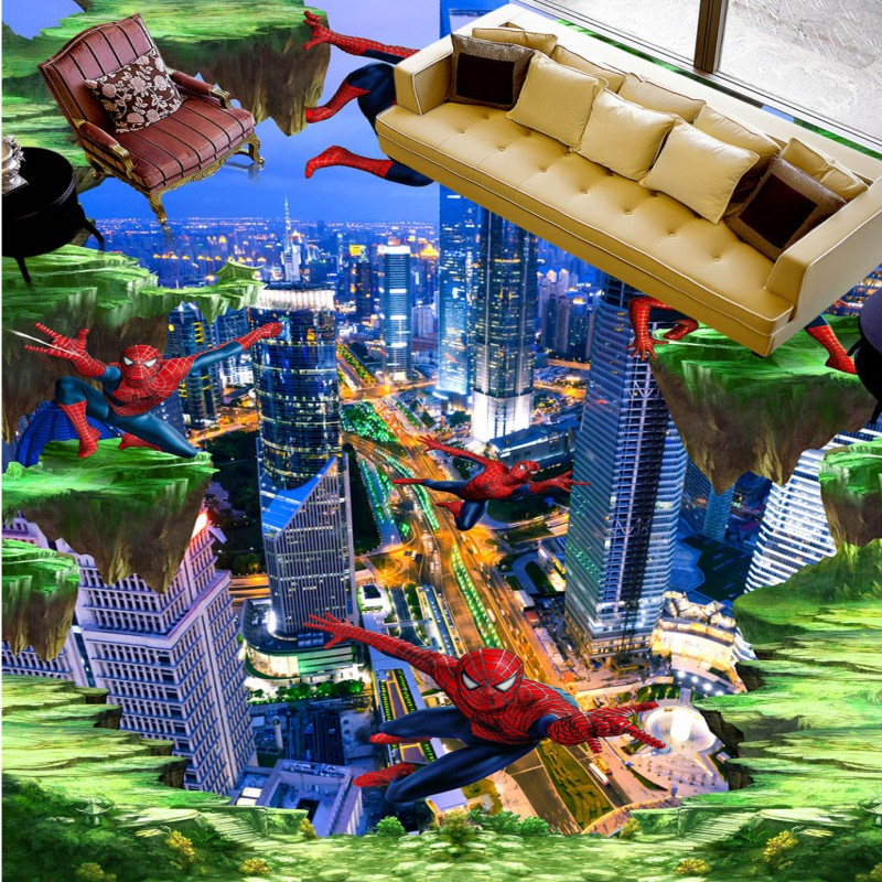 ФОТО Free shipping movie characters photo 3d flooring thickened home decoration living room bedroom wear non-slip mural wallpaper