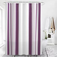 Bohemia Shower Curtain White and Purple Striped Shower Curtains Bathroom Curtain Moldproof Waterproof Bath Curtains for Bathroom white embroidered short curtain for kitchen floral sheer tulle curtains for bedroom voile window screening curtain blinds drapes