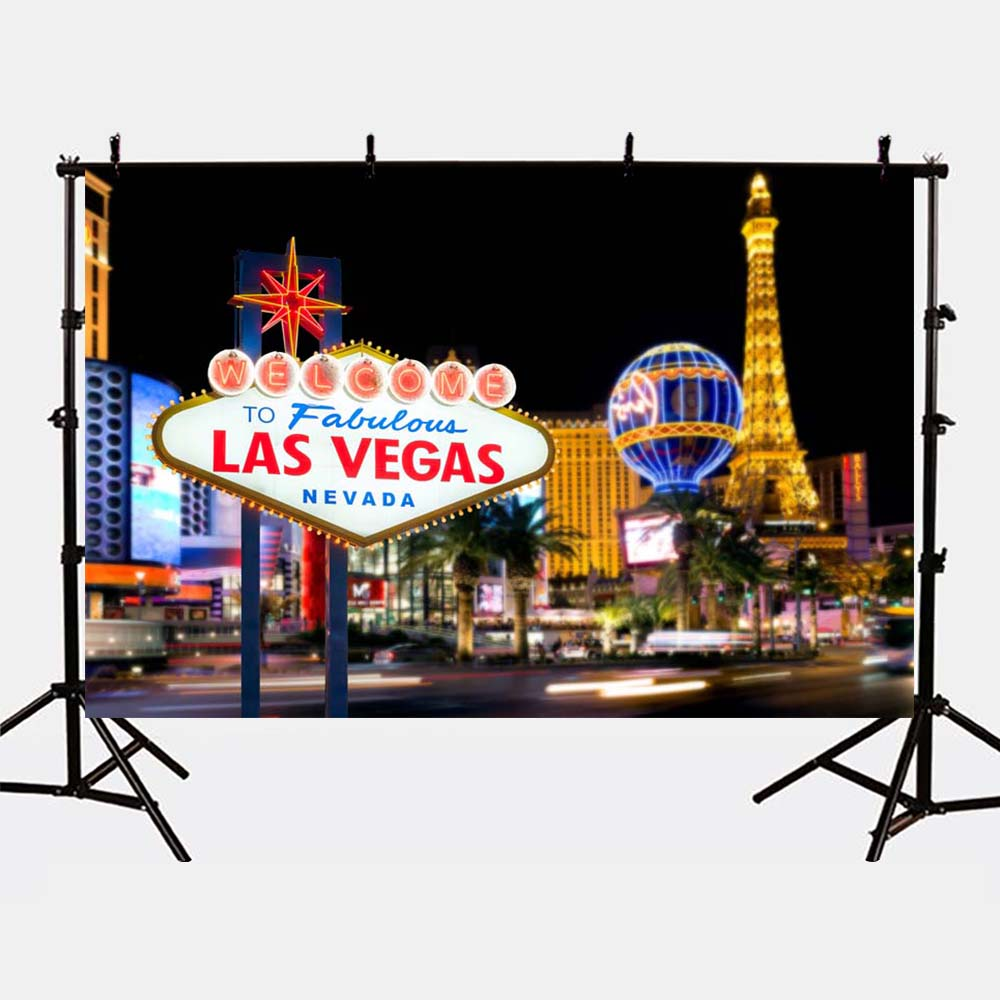 Mehofoto Las Vegas Photo Backdrops Night City Photography Background for Booth Studio Kids Birthday Party G-161