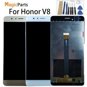 Image 1 - Dla Huawei Honor V8 KNT AL20 KNT UL10 KNT AL10 KNT TL00 KNT TL10 wyświetlacz LCD + ekran dotykowy Digitizer wymiana zespołu