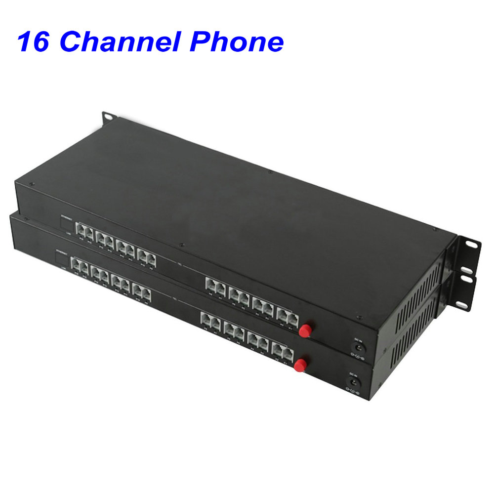 1 Pair 16 Channel- PCM Voice Tel Over Fiber Optic Multiplexer Extender,FC Optical Port,Support Caller ID And Fax Function