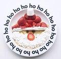 Nova Placa de Serviço de Alimentação Do Bebê Recém-nascidos Nuvem Relógio Carta Frutas Bandeja de Comida Design Segurança Jantar Melamina Tigela Talheres Prato