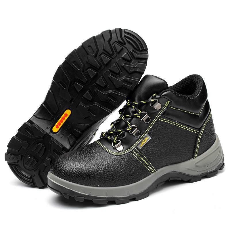 Werk Veiligheid Boot Mannen Winter Schoenen High-top Mannen Laarzen Mode Tactische Militaire Laarzen Anti-smashing Stalen Neus mannelijke Schoenen 36-46